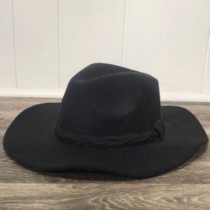 D&Y Black Felt Hat Braided Band